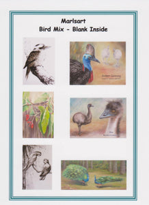 Blank Greeting Card Set - Birds - Outback Creative Gifts