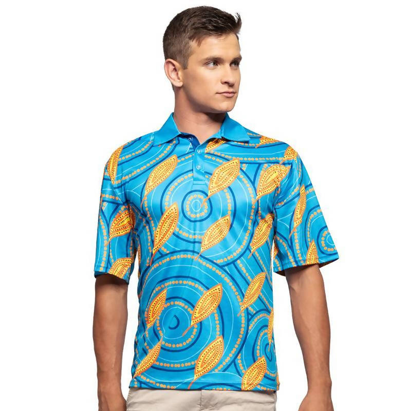 Medicine Leaves Men's Polo - Outback Creative Gifts