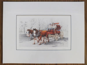 Matted Print - 'Heritage - Cobb & Co. II' - Outback Creative Gifts