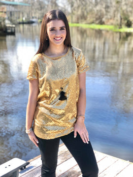 Life of the Party Sequin top