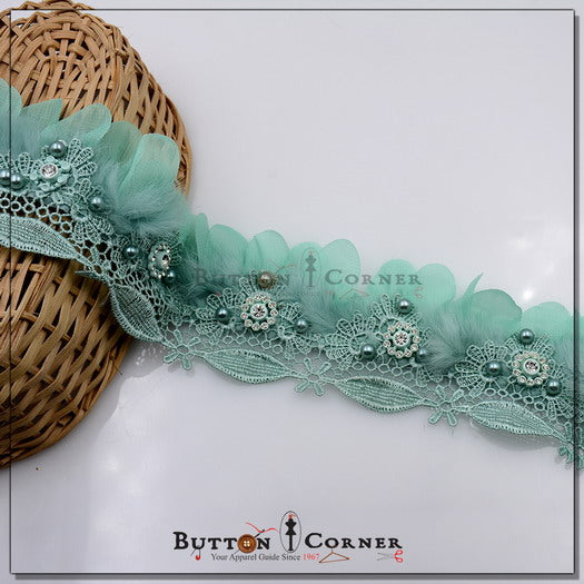 Fancy Feather Lace with Stones AY1110