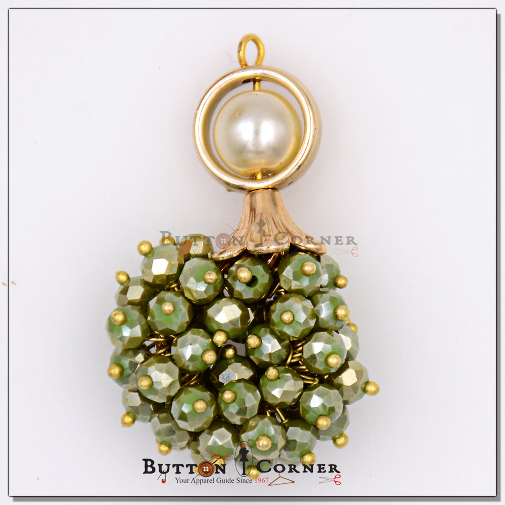 Crystal Pearls Fancy Buttons MKIC6