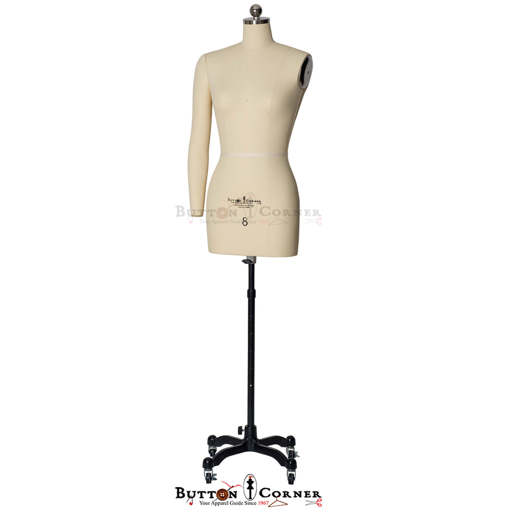 Dress Form MTA8 Female with Arms Semi Pinnable Mannequin