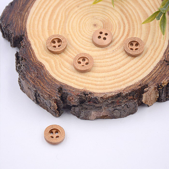 Wooden Shirt Button WBAF1816