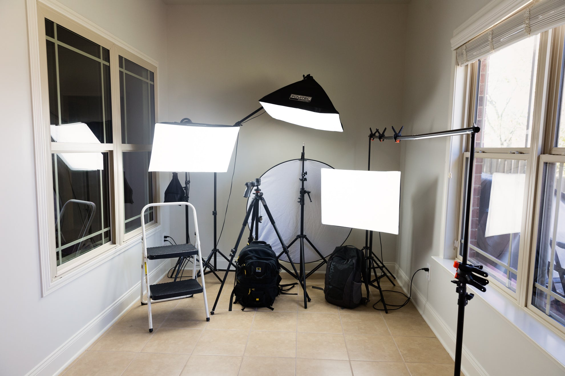 April Milani photography photo gear studio lights strobes