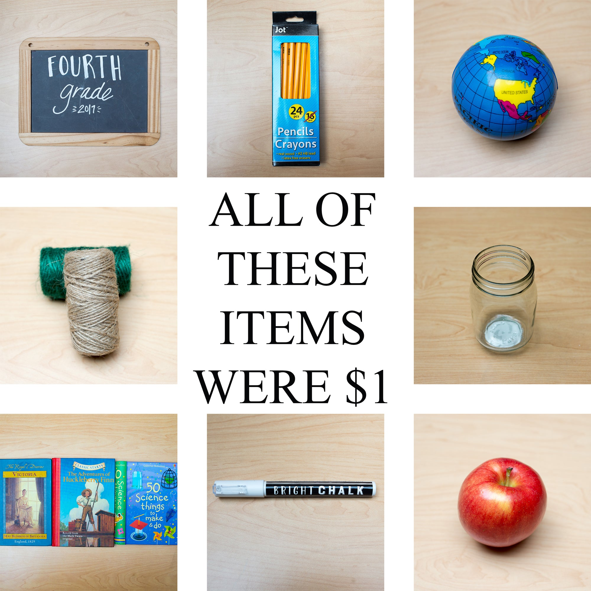 Photo ideas for back to school on a budget