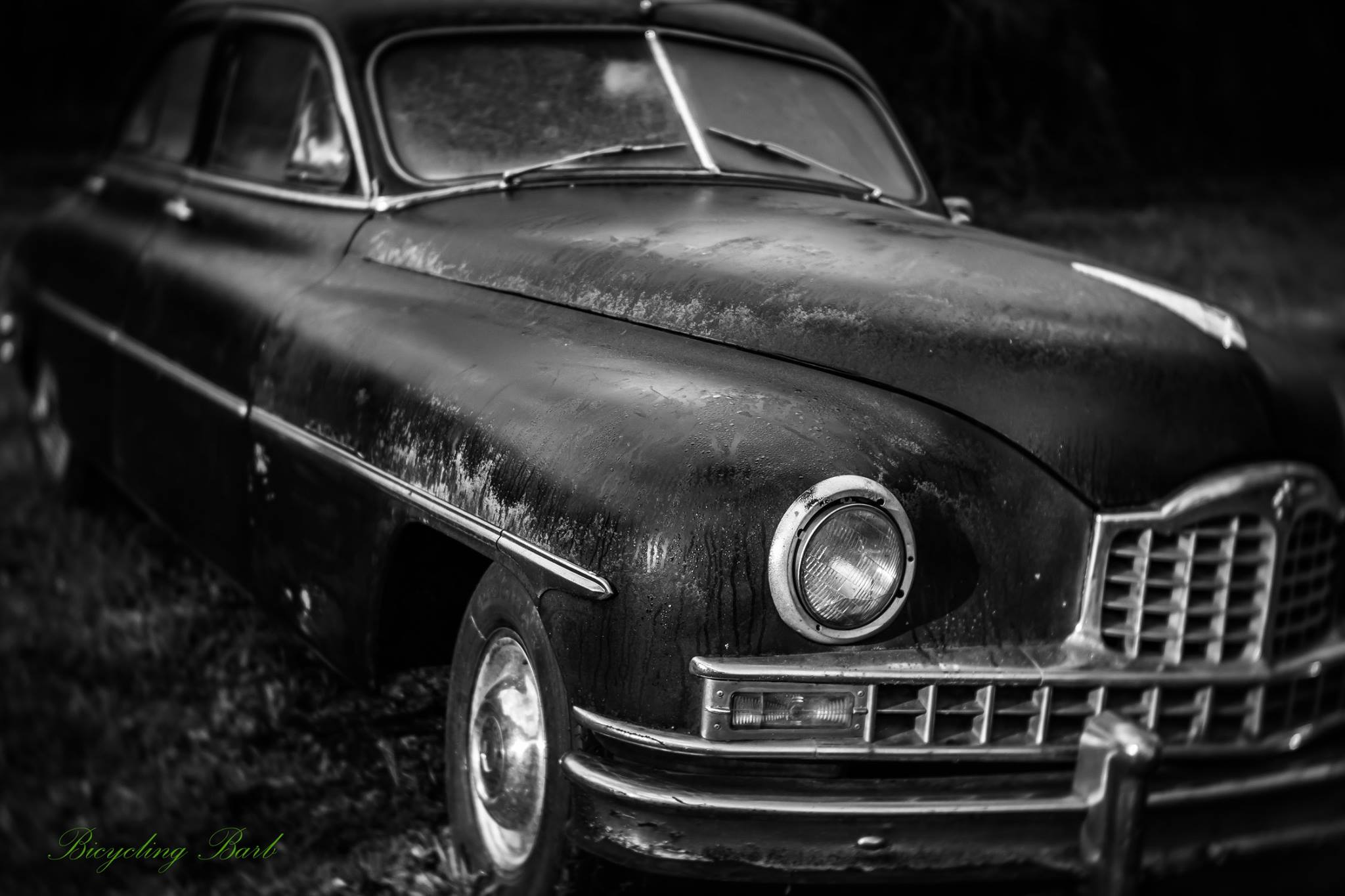 vintage old car black and white photography lensbaby featured photos of the week