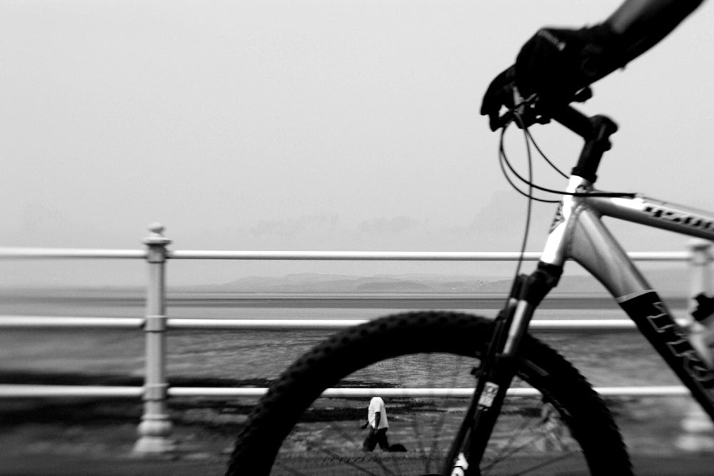 Bike black and white Lensbaby Creators Janet Broughton