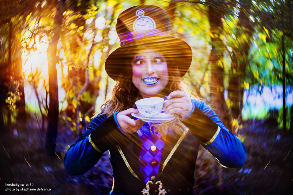 mad hatter at tea party light streaks rays makeup Lensbaby Top 12 Photos