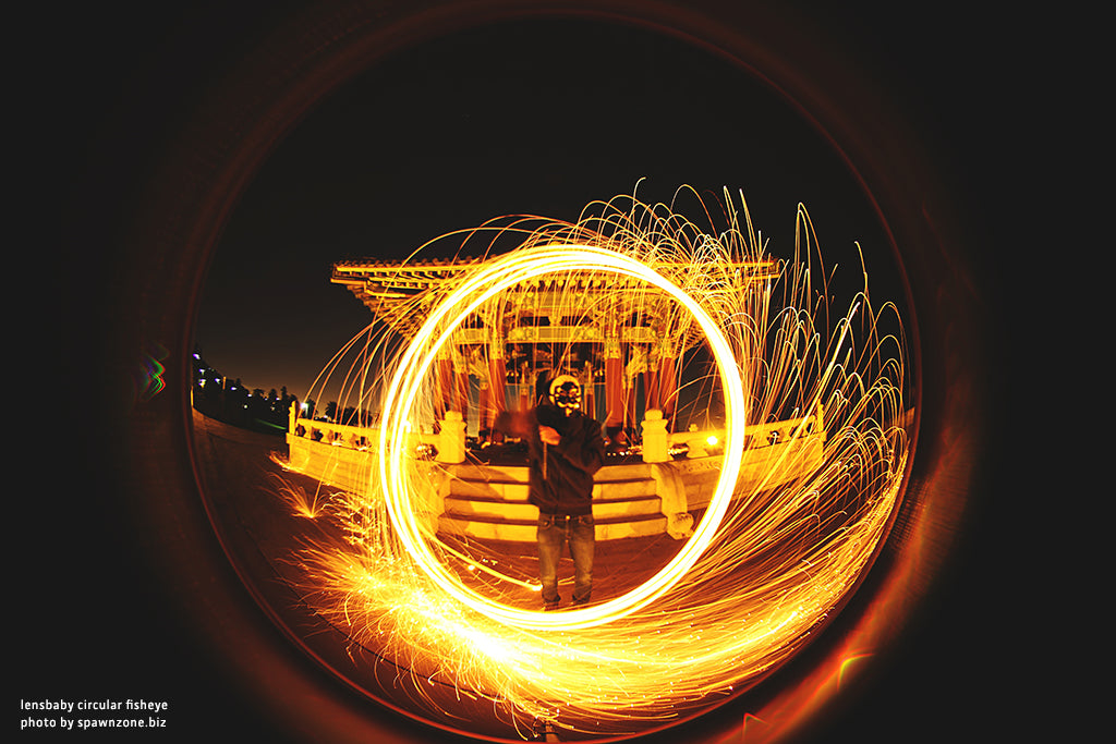 painting with light night photo man in mask lensbaby manifesto photographs