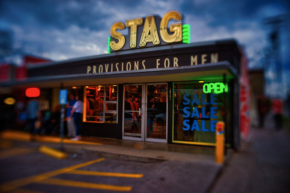 Stag provisions for men clothing store street photography Jim Nix Trio 28