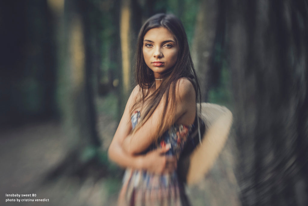 lensbaby manifesto woman in woods sweet 80