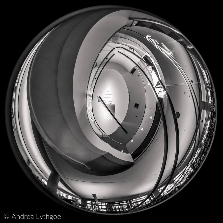 spiral staircase fisheye photography black and white stairs looking up featured photos lensbaby