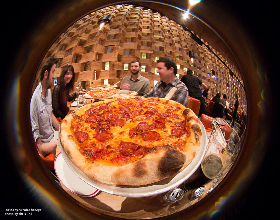 Circular Fisheye Lens by Lensbaby Pizza Party