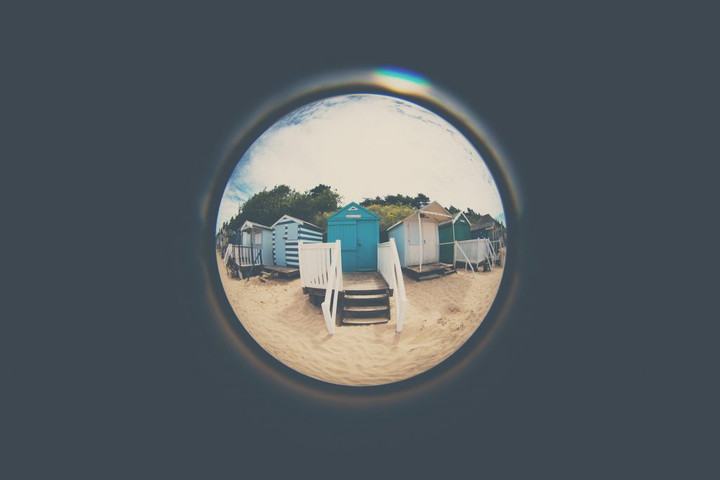 Laura Evans with Circular Fisheye Lensbaby Creative Photography Wells Next to the Sea England