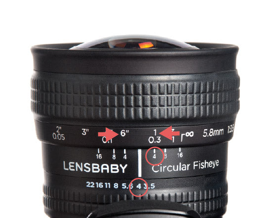 Circular Fisheye Lens by Lensbaby Hyperfocal adjustments