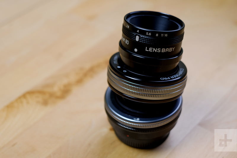 Camera lens creative effect black and silver Lensbaby Sweet 80 review