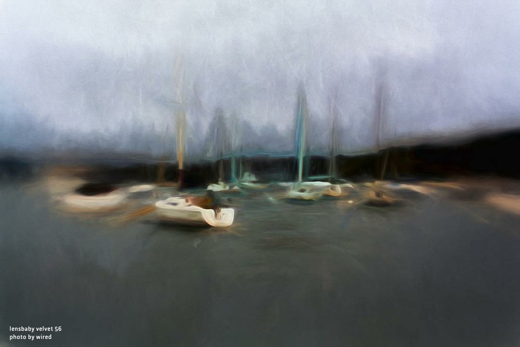 photo sailboats on dark water painted effect blue and grey lensbaby manifesto struggle