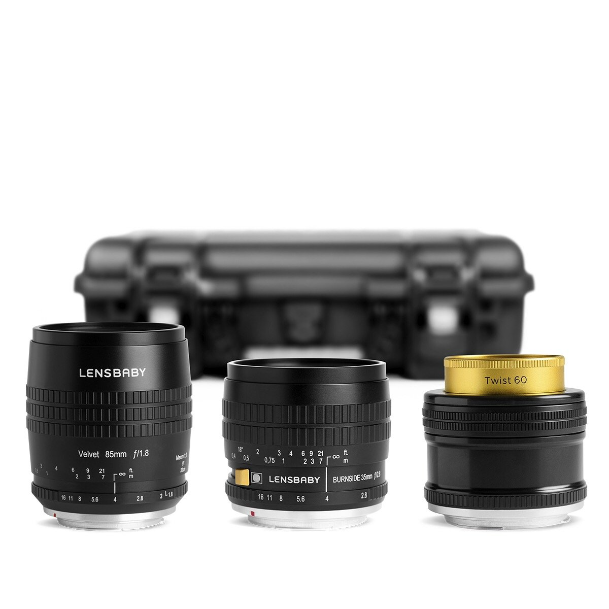 Pro Kit with Velvet 85, Burnside 35 & Twist 60 - Lensbaby Creative Effect Camera Lenses
