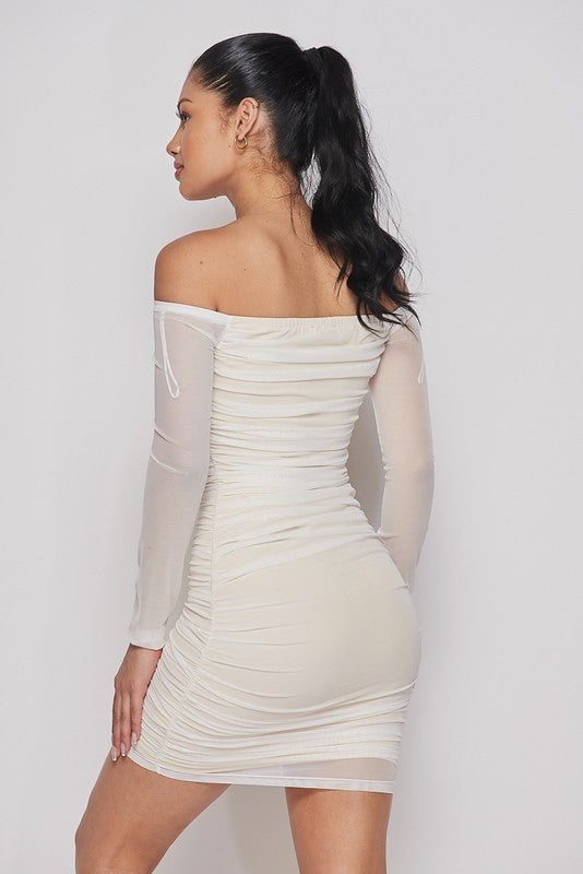 """Girls Night Out"" White Bodycon Dress"