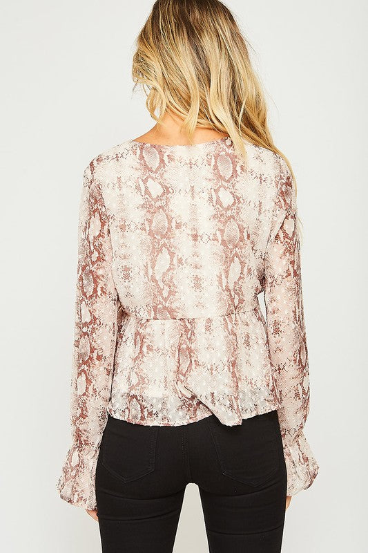 """Pretty By Nature"" Animal Print Blouse"