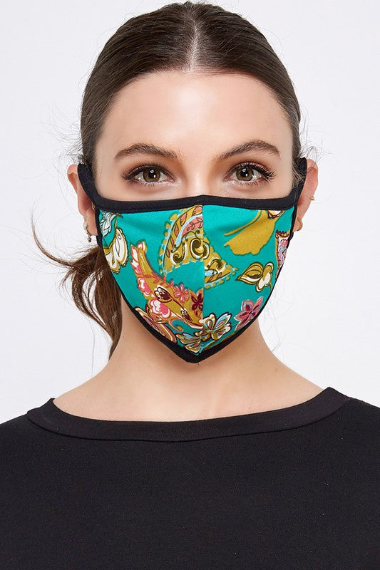 Fashion Face Mask (Green Multi)