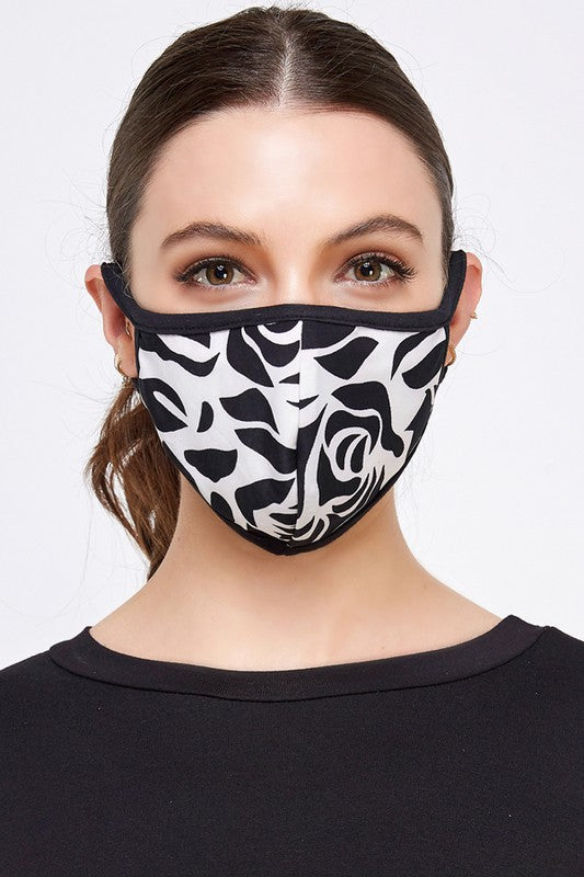 Fashion Face Mask (Black/White)