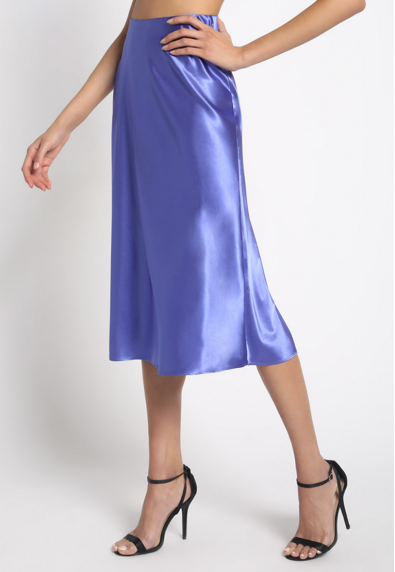 Women's Satin Midi Skirt