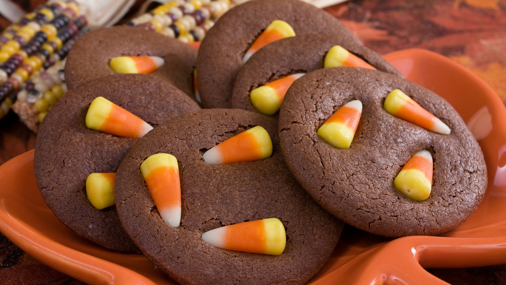 You won't believe how yummy these devil's food candy corn cookies are!