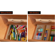Load image into Gallery viewer, Adjustable Bamboo Drawer Organizer (Natural)