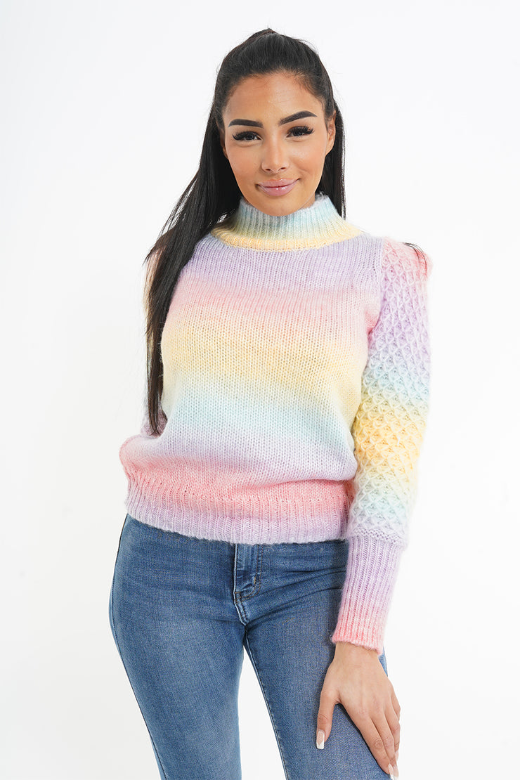 PULL RAINBOW A MAILLE