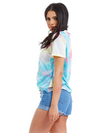 TEE SHIRT IMPRIME TIE AND DYE COL V