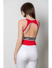 Body ROUGE sportswear à bande LOVE