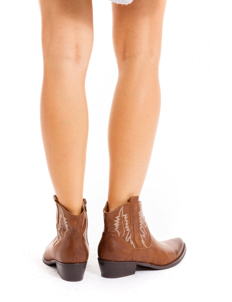 BOTTINES IMPRIMEE CAMEL