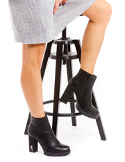 BOTTINES NOIR A TALONS