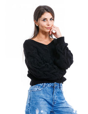 PULL COURT A MAILLE NOIR