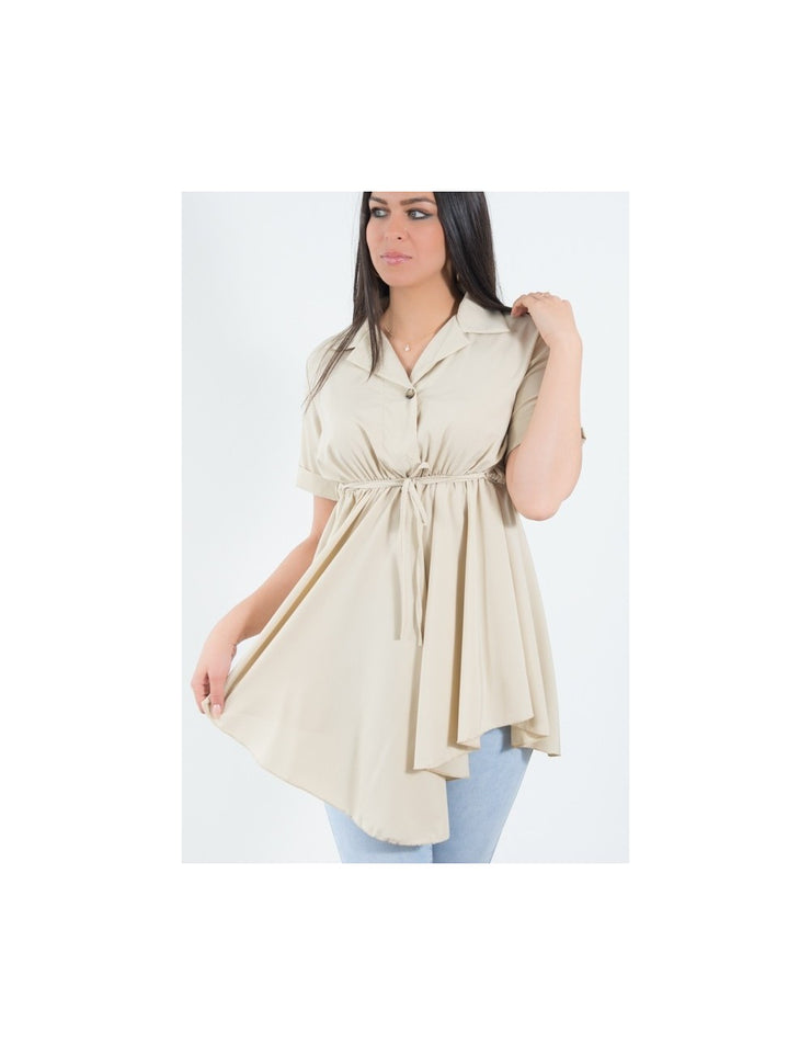 TUNIQUE BEIGE FLUIDE