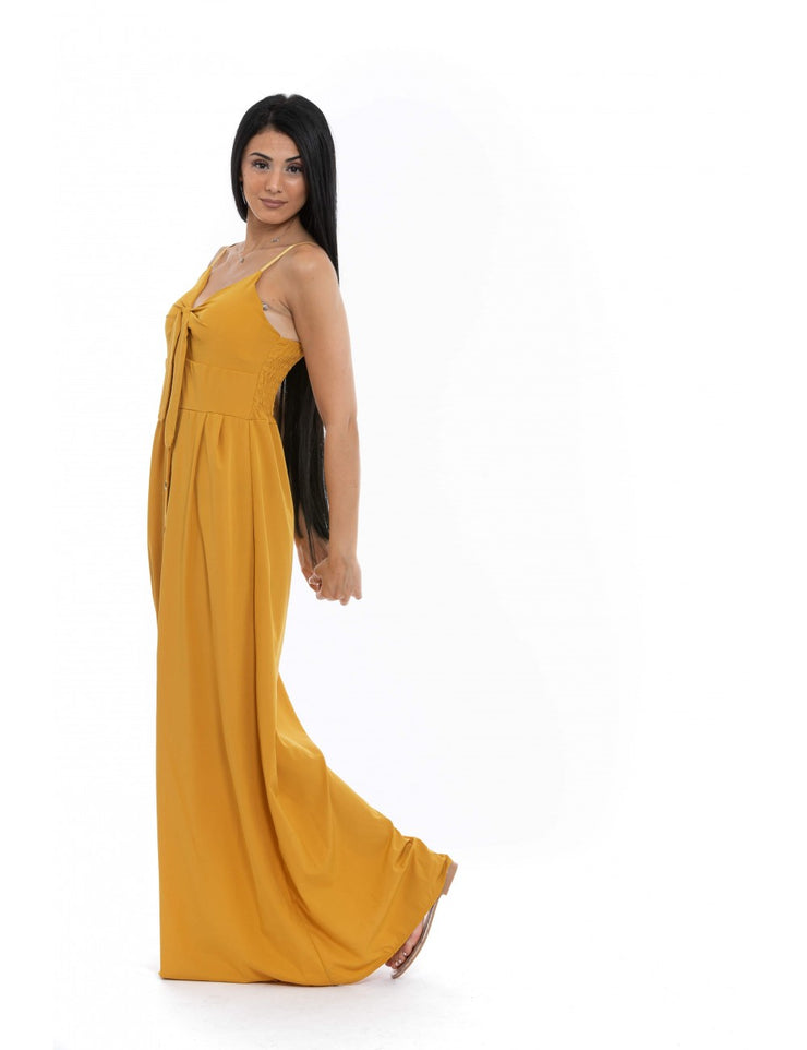 ROBE LONGUE MOUTARDE