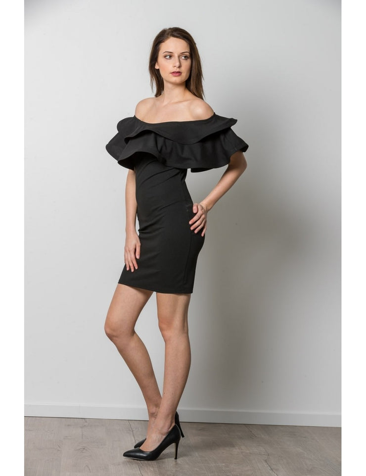 Robe NOIR à volants