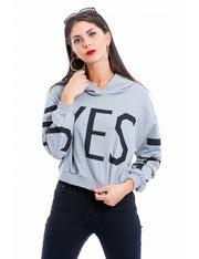 SWEAT YES A CAPUCHE GRIS
