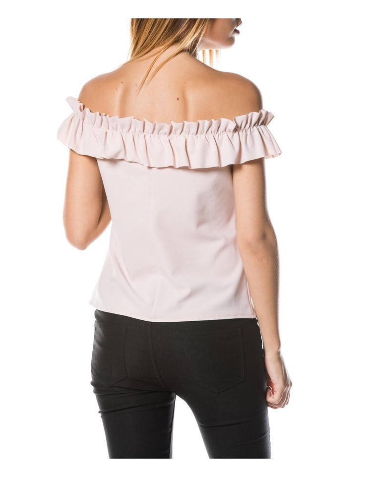 Top bustier ROSE à volants