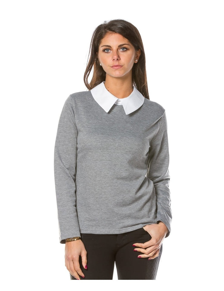 Top col claudine GRIS