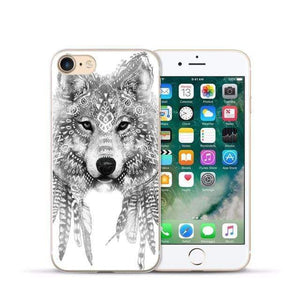 Animal Design Transparent Case iPhone Case casetent For iphone XR / 06