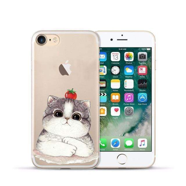 Animal Design Transparent Case iPhone Case casetent For iphone XR / 12