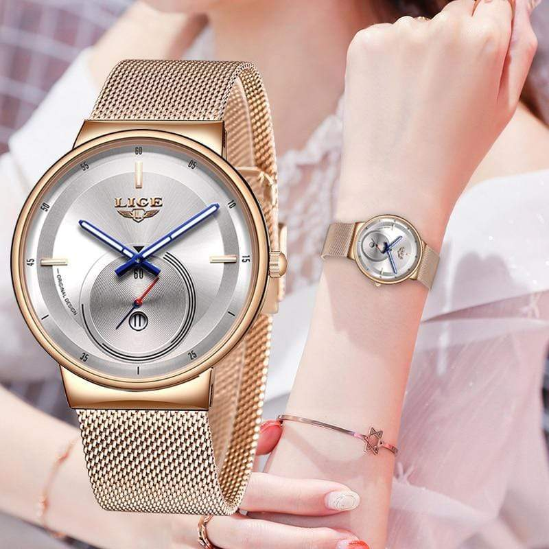 Classic Rose Gold Top Brand Women Watch Watch casetent