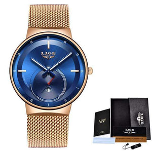 Classic Rose Gold Top Brand Women Watch Watch casetent All blue