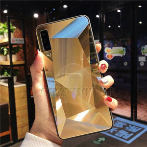 Diamond Mirror Phone Case For Samsung Galaxy Series Samsung Galaxy Case casetent