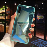 Diamond Mirror Phone Case For Samsung Galaxy Series Samsung Galaxy Case casetent A6 Plus 2018 (A605) / Green