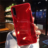 Diamond Mirror Phone Case For Samsung Galaxy Series Samsung Galaxy Case casetent S10e (5.8inch) / Red