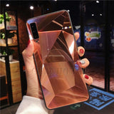 Diamond Mirror Phone Case For Samsung Galaxy Series Samsung Galaxy Case casetent S9 Plus / Rose gold